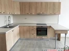 K014 - Кухня: Elegance Endgrain Oak и Дюна