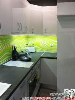 K015 - Кухня: Бял гланц, Grey Pietra Marble, Дъга_8