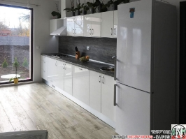 K001 - Кухня: Бял лак, Дъб джаксън_4