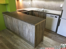 K005 - Кухня: Dark Astwood, Зелен пастел, F049 и PS54_9