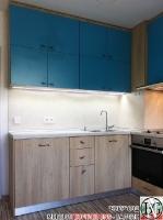 K006 - Кухня: Мармара синьо, дъб нагано и Авалон крем_2