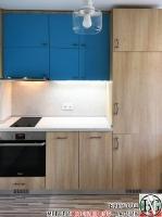 K006 - Кухня: Мармара синьо, дъб нагано и Авалон крем_3