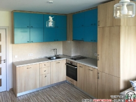 K006 - Кухня: Мармара синьо, дъб нагано и Авалон крем_8