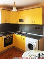 K007 - Кухня: Жълто/Sunshine, Зебрано сахара и етно венге - Кафяво_2
