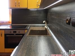 K007 - Кухня: Жълто/Sunshine, Зебрано сахара и етно венге - Кафяво_6