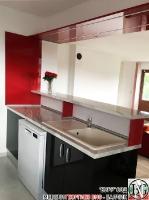 K008 - Кухня: Червен и черен гланц - чили и черно, Венато гланц