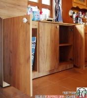 DR011 - Шкаф с отделение за кош за дрехи и рафт за стена: Дъб Крафт голд